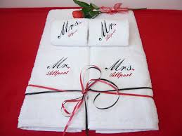 wedding gift personalised wedding gift personalised towel set co uk kitchen home