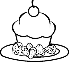 cupcake coloring pages to print sweet cupcake chocolate coloring page cookie pinterest