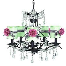 Chandelier With Black Shades Scalloped Drum Shade Lighting Bellacor