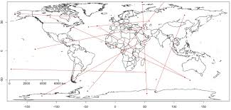 United States Map With Mileage Scale by Great Circle Distance Calculations In R R Bloggers