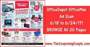 Office Depot by Officedepot Officemax Ad Scan For 6 18 To 6 24 17 20 Pages