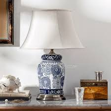 White Ceramic Table Lamps Pretty Ceramic Sweet Fabric Bedside Lamps For Bedroom