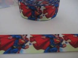 superman ribbon character superman ribbon 7 8 22mm grosgrain 4 meters