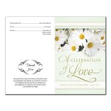 printing wedding programs wedding program 6330 with printing pack of 100 wedding