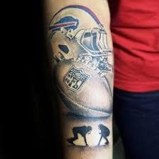cool mens football themed forearm designs tattoos
