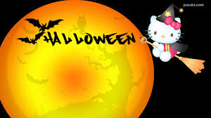 wallpaper hello kitty halloween