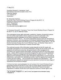 Formal Letter Asking Information article 19 and dozens of ngos call for greater transparency in wcit