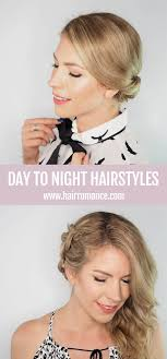 two ear hairstyle day to night style 2 quick hairstyle tutorials hair romance