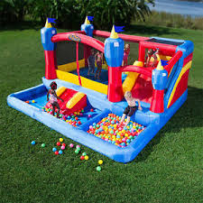 pit rental kids kingdom combo bouncy castle rental with pit slide