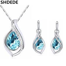 swarovski necklace white gold images Fashion jewelry crystal from swarovski white gold color necklace jpg