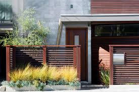 horizontal fence panels patio contemporary with courtyard fence