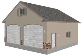 g433 30 u0027 x 30 u0027 detached garage with bonus truss sds plans