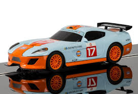 gulf racing truck scalextric c3840 team lightning team gt gulf amazon co uk toys
