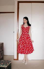 esme and the laneway red polka dot dress two