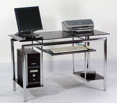 small glass computer desks home and garden decor uncluttered a
