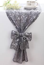 sequin table runner silver grey sparkle table runner bling