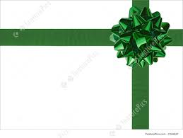 green gift bow templates green gift wrapping bow and ribbon stock picture