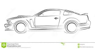car drawing muscle car drawing stock illustration image of silhouette 32022215