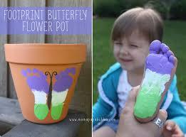 footprint butterfly flower pot mama papa bubba