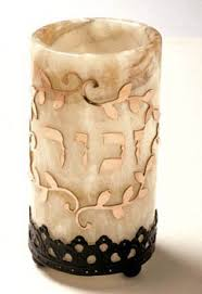 yahrzeit candle where to buy frann s alabaster holder for yahrzeit candle