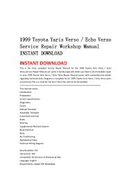 1999 2005 toyota yaris verso echo verso service repair manual downlo u2026