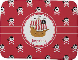 Red Bath Rug Pirate Memory Foam Bath Mat Personalized Potty Training Concepts