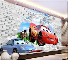 Cars Wall Mural by Compare Prices On Wallpaper 3d Kids Cars Online Shopping Buy Low