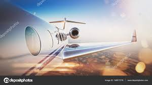 business travel concept generic design of white luxury private jet