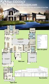 Inlaw Suite by Plan 430006ly 4 Bed Modern House Plan With Upstairs In Law Suite