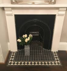 Black And White Tiles Bedroom Cast Iron Fireplace Rescued From A Skip Bedroom Fireplace