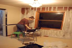 Refinishing Wood Table Ideas U2014 by 100 Painting Over Paneling Updated Living Dining Tour After