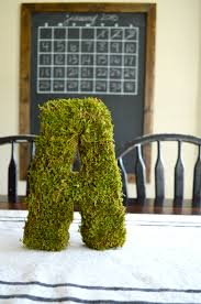 moss covered letters moss covered letter brick house