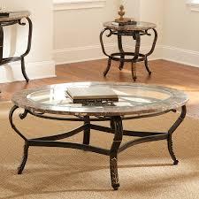 shop steve silver company gallinari glass coffee table at lowes com