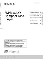 sony cdx gt560ui manuals