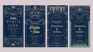 deco wedding invitations deco wedding invitations design vector free vector