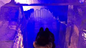 the ice slide at hotel de glace in quebec city youtube