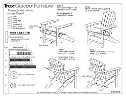 Trex Rocking Chairs Trex Txa15 Cape Cod Adirondack Chair Polywood Furniture