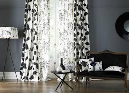 Black And White Curtain Designs A Mix Of Black White Textiles Galleries