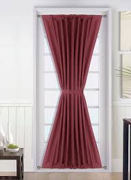 Walmart French Door Curtains by Curtain Door U0026 Seymour Room Darkening Door Panel With Tieback 54