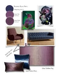 aubergine and navy home design inspiration board design theory