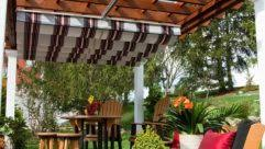Pergolas Home Depot by Backyard Creations Deluxe Arched Pergola Shade Kit Ideas Images