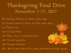 thanksgiving food drive all saints catholic school