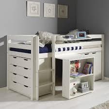 lit mezzanine bureau blanc bureau sous lit mezzanine avec bureau en pin massif pour lit