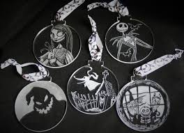 nightmare before decorations set of 5 ornaments