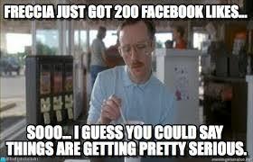 Facebook Likes Meme - freccia just got 200 facebook likes on memegen