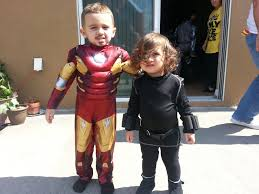 ironman and black widow costume idea for toddlers fiesta ideas