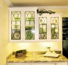 Glass Cabinet For Kitchen Stained Glass Cabinet Inserts And Kitchen Windows