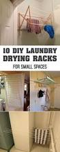Hanging Clothes Rack From Ceiling 10 Diy Laundry Drying Racks For Small Spaces