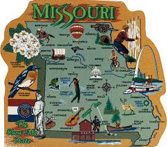 Missouri Road Map State Map Missouri The Cat U0027s Meow Village