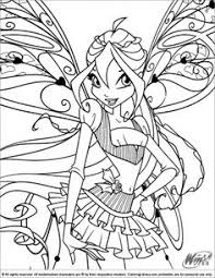 winx club coloring picture coloring pages kids